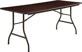 Lorell 65757 Folding Table, 72-Inch x30-Inch x29-Inch, Mahogany