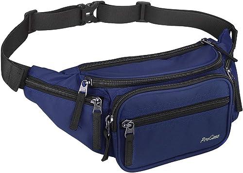 ProCase Fanny Pack Waist Packs for Men Women, Waist Bag Hip Pack for Travel Hiking Running Outdoor Sports (Navy)