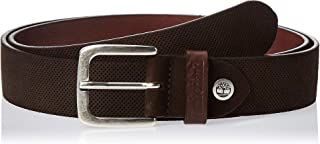 Timberland mens TMA1BYJ Suede Leather Belt