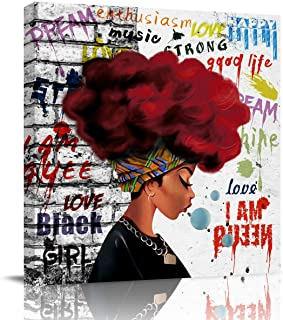 Gredice Canvas Print Wall Art Painting Oil Painting African Black Woman Picture Art Art - Art for Living Room Room Room - ...