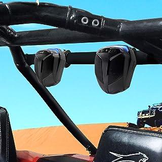 "GoHawk ATN4 All-in-One Built-in Amplifier 5"" Full Range Waterproof Bluetooth ATV RZR UTV Stereo Speakers Audio Amp System,1.5 to 2"" Roll-cage Bar Mount Yamaha Polaris 4 Wheeler Can-Am, FM Radio & USB"