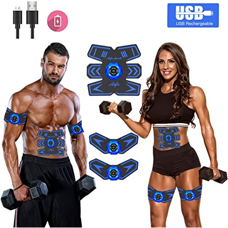 tragbarer Bauchmuskeltrainer St/ärkungspflaster f/ür M/änner Frauen trainieren Power Fitness Abs Stimulator Muscle Trainer
