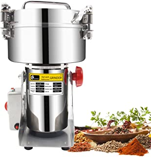 CGOLDENWALL 1000g Stainless Steel Electric Grain Grinder Mill For Grinding Various Grains Spice Grain Mill Herb Grinder,Pulverizer Powder Machine 110v Gift for mom, wife