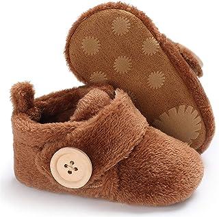 BENHERO Baby Newborn Crib Cozy Fleece Winter Booties Non Skid Soft Sole Shoes Warm Winter Socks