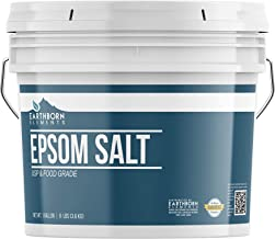 Epsom Salt (1 Gallon) by Earthborn Elements, Resealable Bucket, Magnesium Sulfate Soaking Solution, All-Natural, Highest Q...