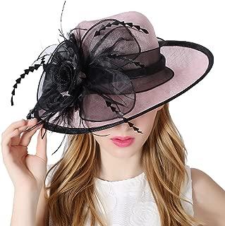 Women 3 Layers Sinamay Kentucky Derby Church Sun Summer Hats
