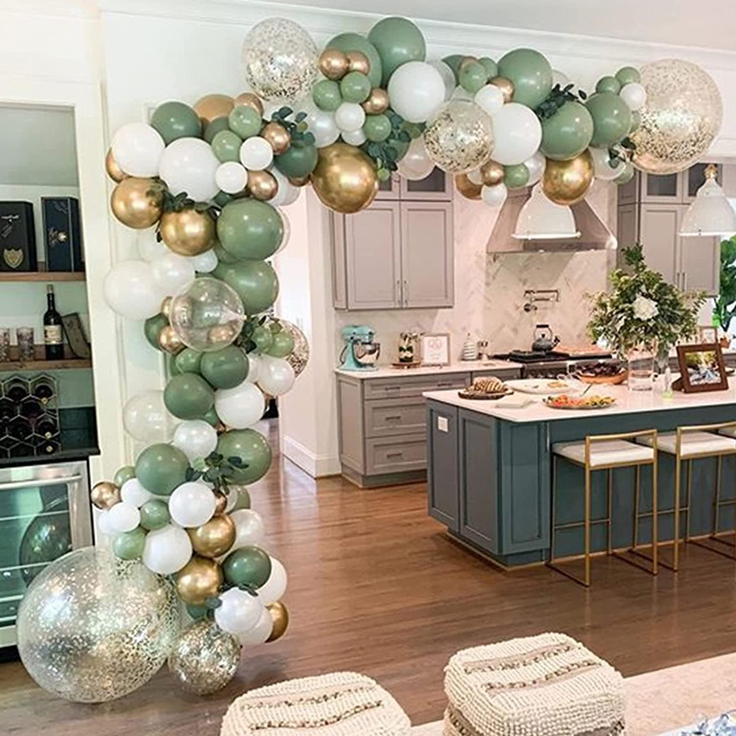 Balloons Garland Max 47% OFF Arch Kit Sage Olive Green Matte Sizes New arrival Different