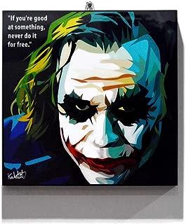 Pop Art Movie Quotes [Joker - The Dark Knight] DC Villain Framed Acrylic Canvas Poster Prints Artwork Modern Wall Decor, 10