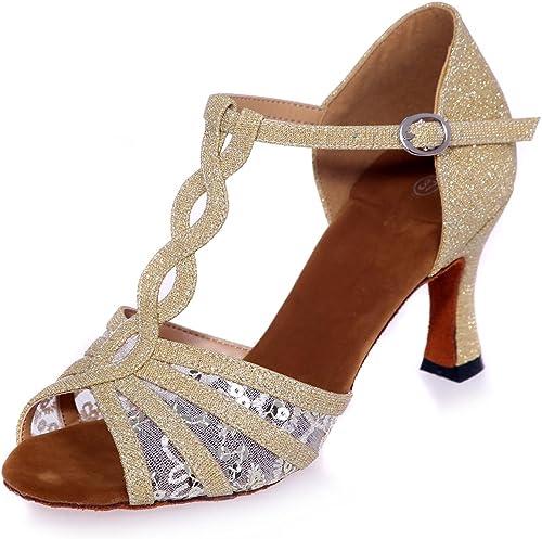 Chaussures De Danse Latine des Femmes Talons 7,5 Cm De Satin De Danse Sandales Peuvent êTre PersonnaliséS