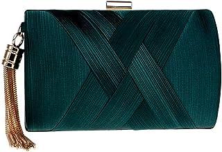 Sonline Quaste Mode Damen Clutch Bag Schulter Handtaschen weiblichen Party Hochzeit Abendtasche fuer Telefon Geldboerse Gold
