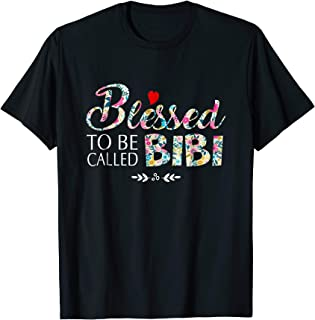 Womens Blessed To Be Called Bibi Tshirt