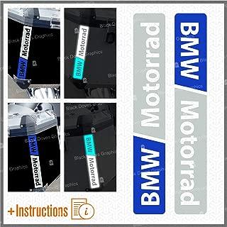 2pcs Reflectantes Adhesivos Compatible para Motorrad R 1200 1150 1250 F 800 650 F700 GS A R1200GS R1200 Touratech Motorcycle Aluminium Panniers Bolsas Laterales (Blanco/Azul)