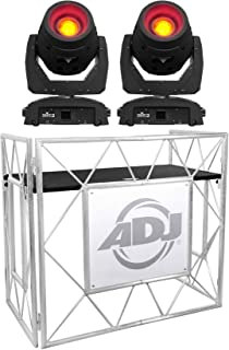 (2) Chauvet DJ Intimidator Beam 355 IRC 100w Moving Heads+Metal DJ Booth Facade