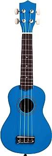 AmazonBasics Starter Ukulele Bundle with Strings, Tuner, Strap, and Bag - 21-Inch Basswood, Blue
