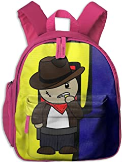 Children Pre School Backpack Boy&girl's Big Face Cowboy Book Bag