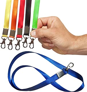 Toy Cubby 12 Pack Colorful Flat, Nylon, Around The Neck Lanyard Metal Clip - Ideal for Badge Holders, ID Name Tags, Businesses, Moms, Teachers...and So Much More! Look Professional, Be Professional!