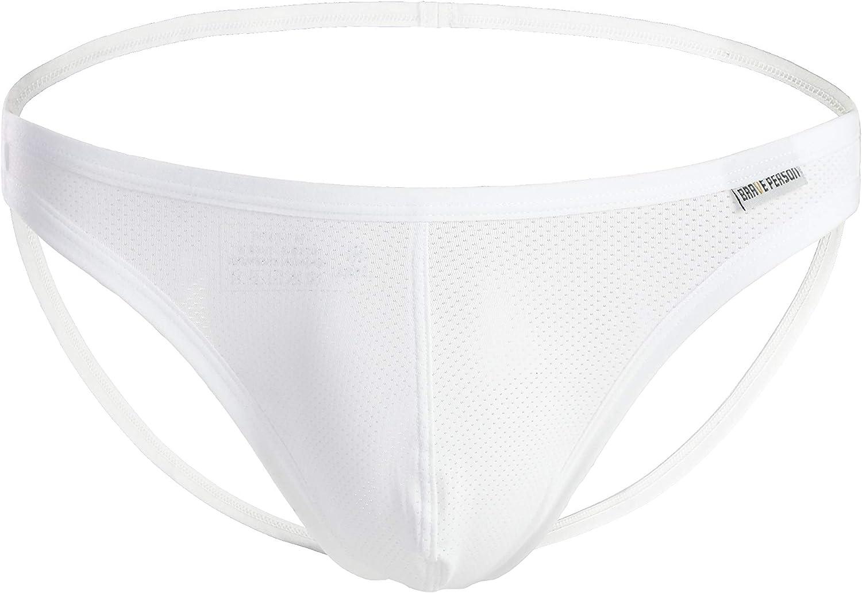 BRAVE PERSON Men's Underwear Jockstrap G-String Briefs Pouch Thong
