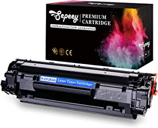 Sepeey Compatible Toner Cartridge for HP 83A CF283A, Compatible with HP Laserjet Pro M201dw M201n MFP M127fw M127fn M225dw M225dn M125nw M125a M125rnw M127fp Printer, 1 Black