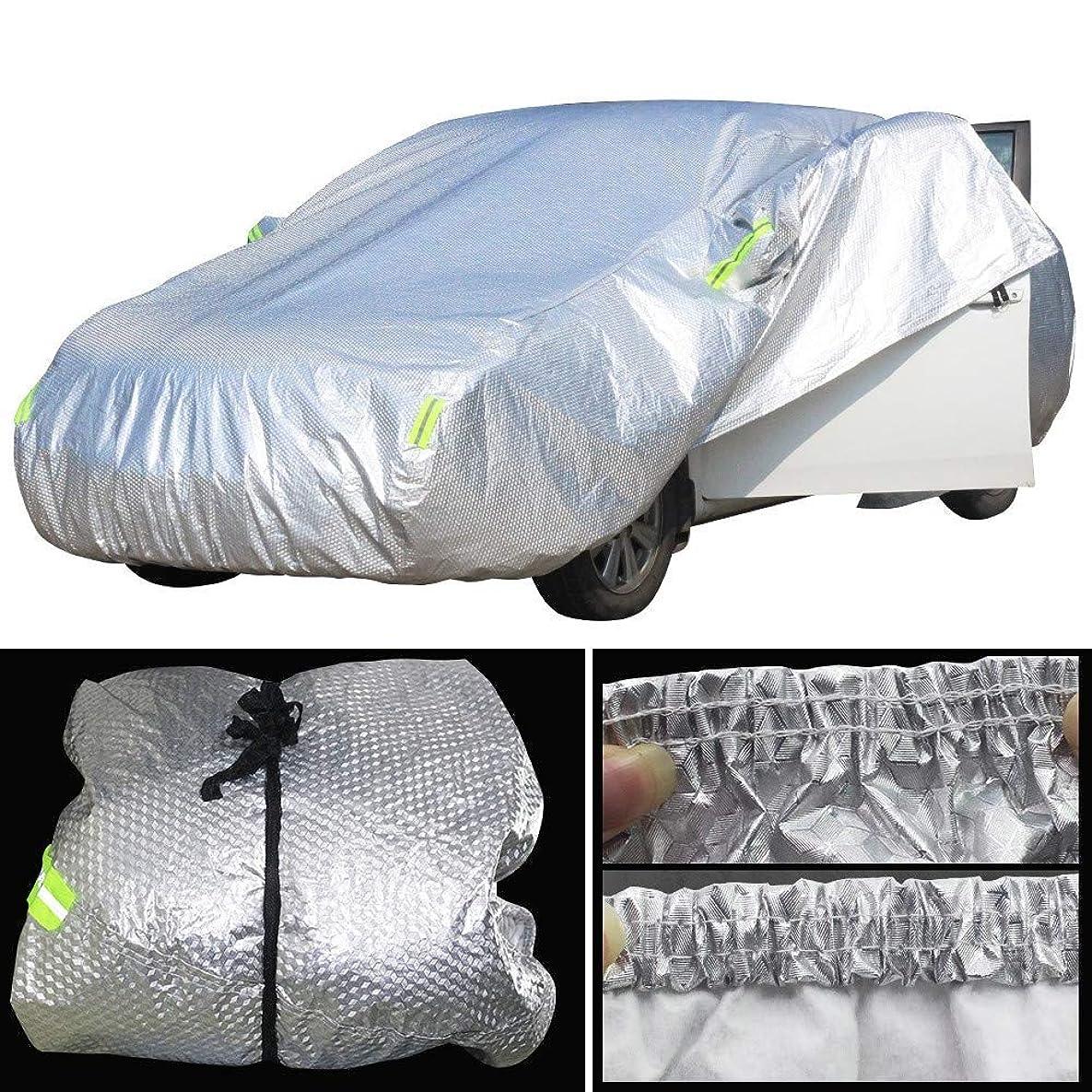 関係する頼む範囲車のカバー防水用フィアット500 Perla Punto MareaパリオブラバOttimo Viaggio Uno車のカバー防水太陽雪降雨雹防止カバー (Color : 2S)