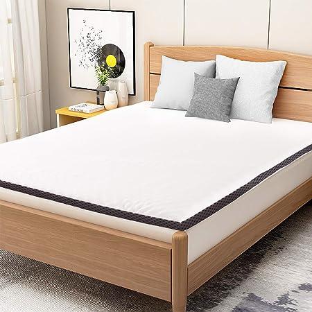 Amazon Basics Sur-Matelas en Mousse Visco-Élastique Confortable avec Sangles, 4 cm - 80 x 190 cm
