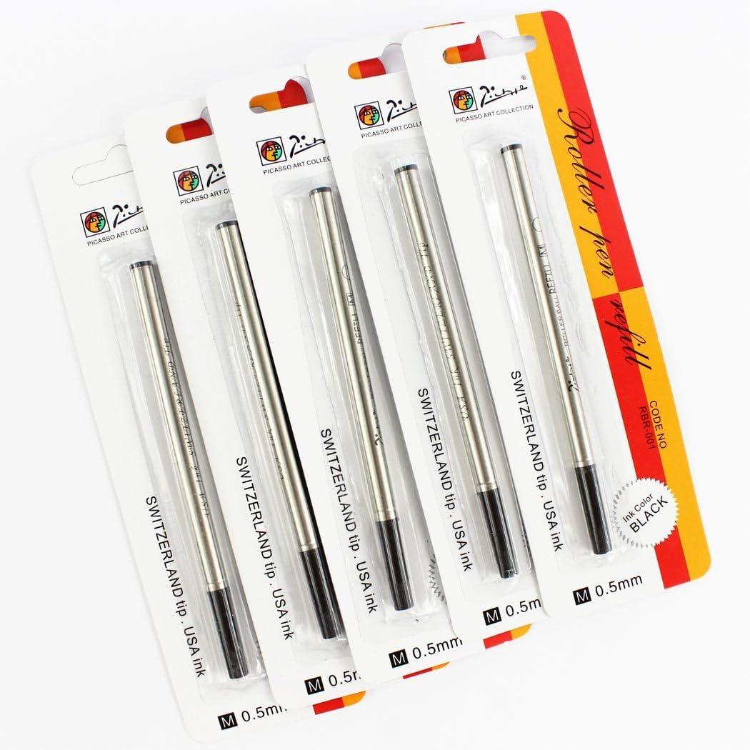 Details about  /Refills Black Colors Roller Pens Cartridge Stationeries Metal Brands Gel Picasso