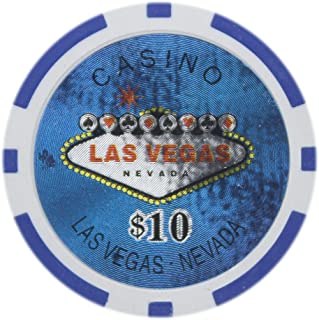 Brybelly Las Vegas Casino Poker Chip Heavyweight 14-Gram Clay Composite – Pack of 50