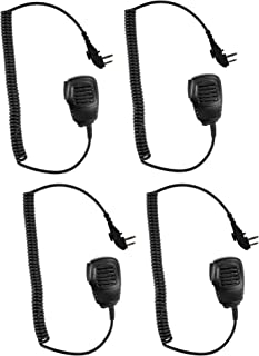 4 Pack Maxtop 4PS-APM100-H4 Light Duty Shoulder Speaker Microphone for Hytera HYT TC-580 TC-508 TC-518 TC-700