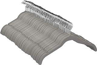 Amazon Basics Lot de 100 Cintres en Velours pour Chemises/Robes, Gris