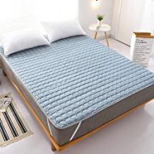 Brushed Fabric Mattress Topper with Elastic Straps,Bed Pad Protector Noiseless Sheet,Comfortable, Effective Long Lasting H...