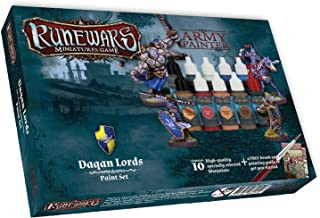 The Army Painter Runewars Daqan Lords Paint Set - Highly Pigmented Acrylic Model Paint Set with Bonus Hobby Paint Brush and Painting Guide - 10 Model Paints in 18ml Dropper Bottles