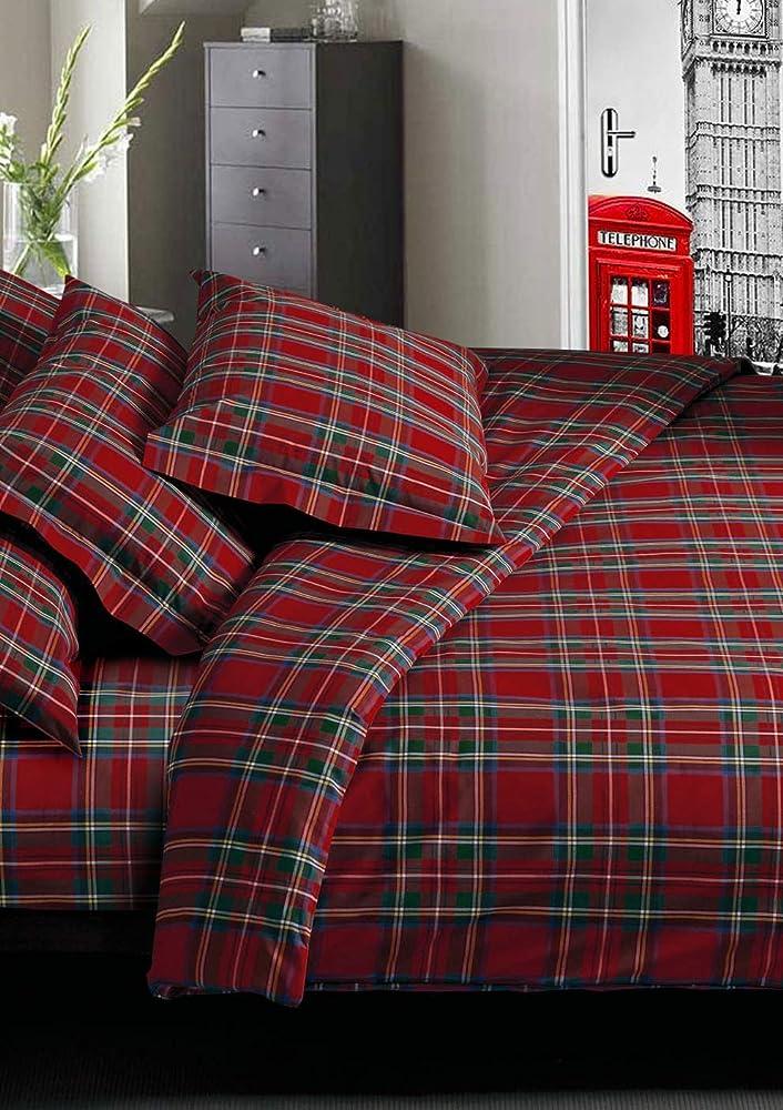 Confezioni giuliana, completo lenzuola in cotone per letto matrimoniale B08QCZGW1Q