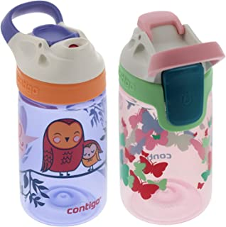 Contigo Auto Seal Gizmo Sip 康迪克 儿童水瓶 413.98ml 蝴蝶图案/小鸟图案 2件装 孩子父母出行的好选择