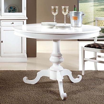 Amazon.it: tavolo rotondo allungabile bianco - Tavoli ...