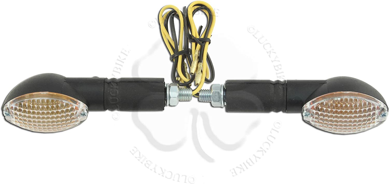 Vision Amber Black Universal Light Motorcycle Stem Stalk Turn Signal Marker