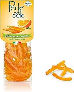 Candied Sicilian Orange Peels in Powdered Sugar (3.5 Oz)