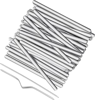 3.54 Inch Adhesive Aluminum Strips Nose Bridge Strips Aluminum Strip Straps for DIY Crafts Face Cover Making Supplies (100 Pieces)