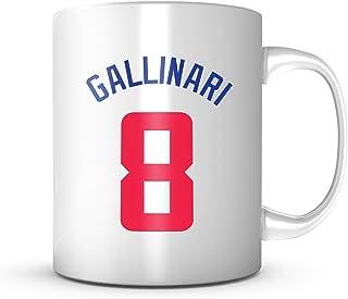 DANILO GALLINARI #8 Los Angeles Basketball - Jersey Number Coffee Cup