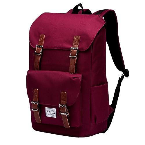 Backpack Men,Vaschy Vintage Backpack Women Casual Camping Rucksack Daypack  Teen School Backpack 15.6 Inch 9e42ca0e2b