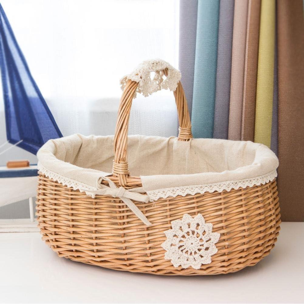 Rapid Safety and trust rise XUXUWA WH Wicker Rattan Storage Picnic Box Fruit F Basket