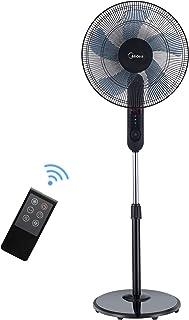Midea FS40-15FR - Ventilador de pie con mando a distancia, indicador LED, altura regulable, inclinación individual, potente, silencioso y potente ventilador con 5 hojas