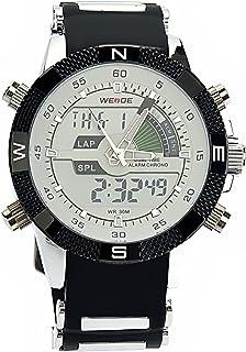 c75b947c3 PIXNOR Hora Dual WEIDE WH-1104 impermeable de los hombres deportivos LED  Digital reloj de