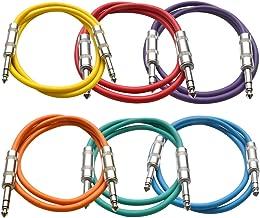 SEISMIC AUDIO - SATRX-3-6 Pack of Muliple Colored 3' 1/4