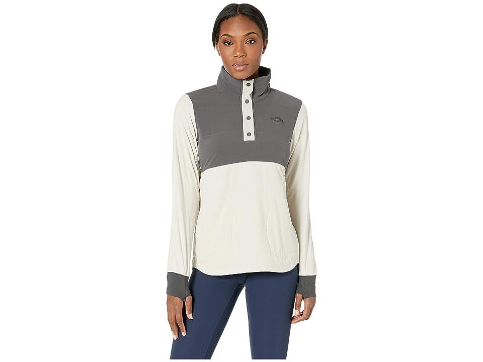 The North Face Mountain 1/4 Zip Snap Sweatshirt (Peyote Beige/Graphite Grey) Women