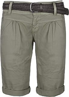 Aibrou Pantaloncini Donna Elegant Shorts Cotone Casual Pantaloni Corti Estivi per Spiaggia Vacanza