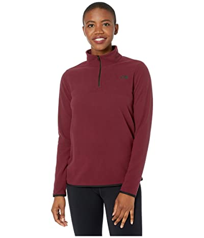 The North Face TKA Glacier 1/4 Zip (Deep Garnet Red/Deep Garnet Red) Women