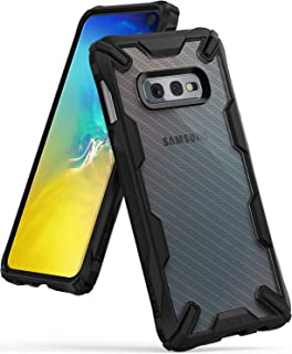 Ringke Fusion X Design DDP Compatible with Galaxy S10e Case Semi-Opaque PC Back with TPU Bumper Stylish Protection Cover for Galaxy S10e (2019) - Carbonfiber Black
