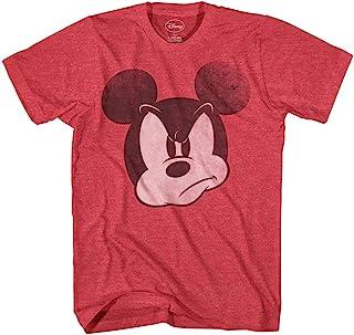 تي شيرت رجالي مطبوع عليه Mad Mickey Mouse كلاسيكي عتيق عالم ديزني لاند للبالغين جرافيك تي شيرت للرجال
