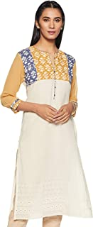 Soch Women's Cotton Straight Kurta