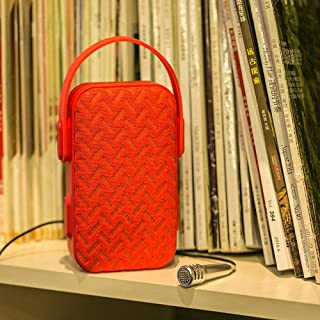 AIBIMY MY220BT Multi-Function Bluetooth Party Speaker with External Microphone - Red