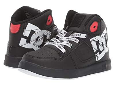 DC Kids Pure High-Top SE (Toddler) (Black/Black Stencil) Boys Shoes